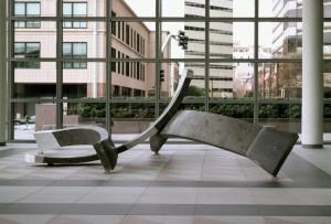 Curves, 1993, terrazzo, 5'h x 17'w x 17'd