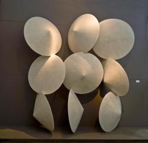 "Arpeggio, 2014, composite materials, 8'6""h x 9'w x 36""d"
