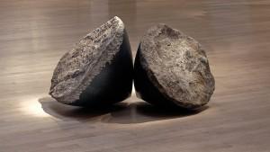 """Touch, 2005, basalt, 24"""" x 28"""" diameter"""