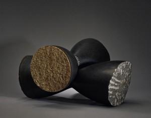 "Counterbalance, 2005, basalt, 15""h x 23""w x 23""d"